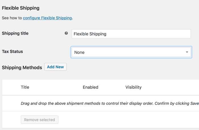 WooCommerce Flexible Shipping Method