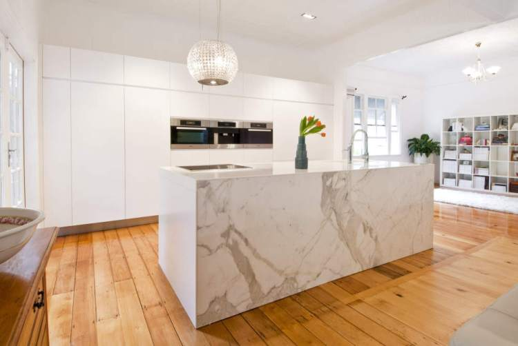 Marble Benchtop Timber Flooring