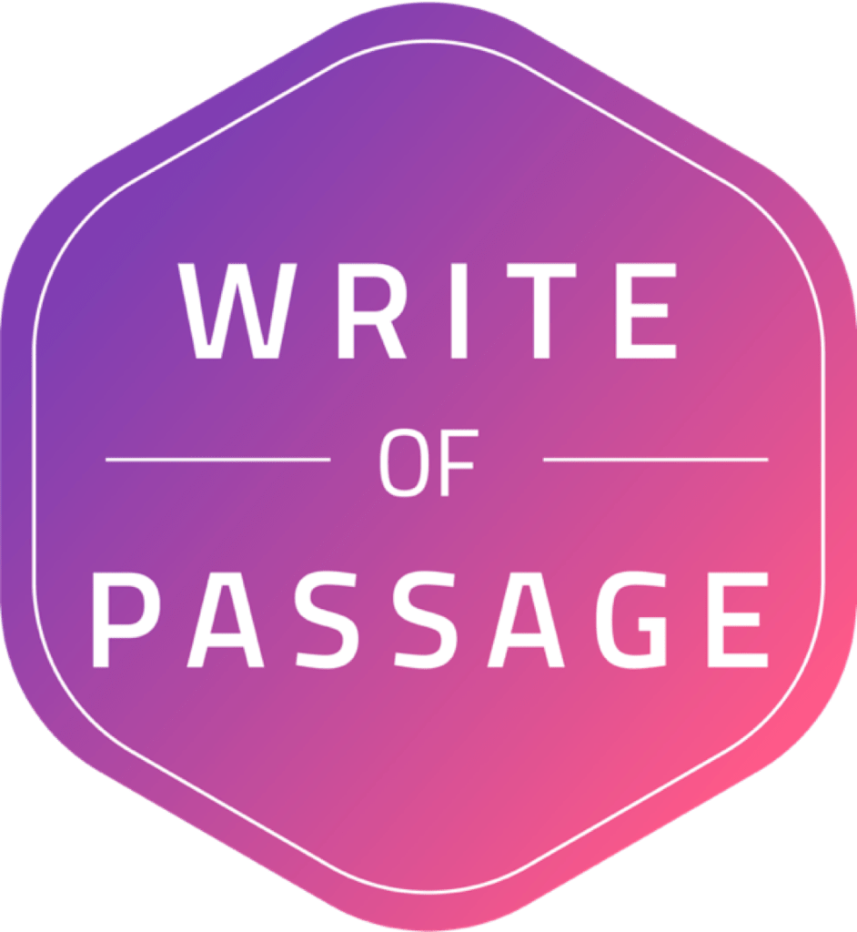 Write of Passage badge