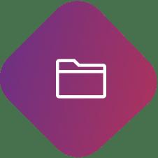 diamond with folder icons