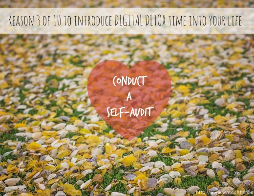 conduct a self audit, autumn leaves, digital detox