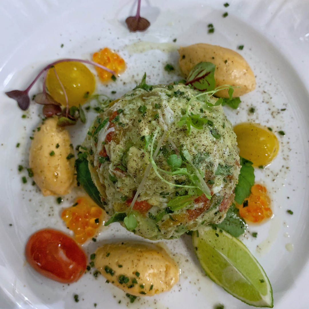crab salad, lunch