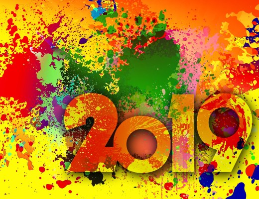 2019, colour, new year, happy new year,