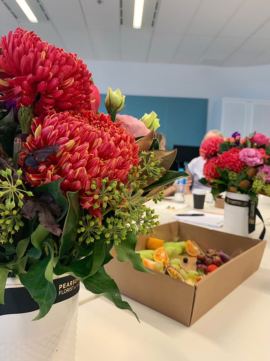 Flowers and Food at the Bupa Event