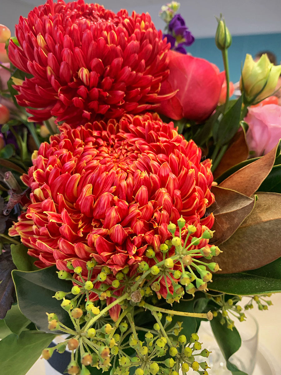 Flowers at the Bupa Influencer Program - Part 2 event in Sydney.