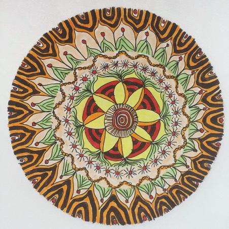 An Aboriginal design Mandala drawn by Denyse Whelan