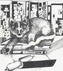 Kitty with a Pen by Jennifer Skutelsky  All Rights Reserved by Author