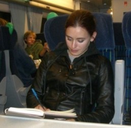 RETRO PHOTO: young Heather writing for herself in her journal.