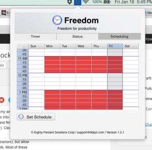 Freedom Schedule