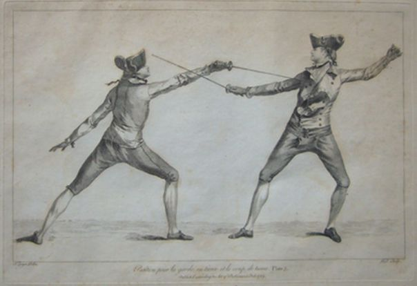 Fencing Print from 1763