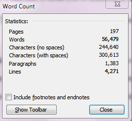 Writer Sulutions: Word Counts