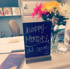 """""""Happy Monday, old sports"""" Gatsby sign"""
