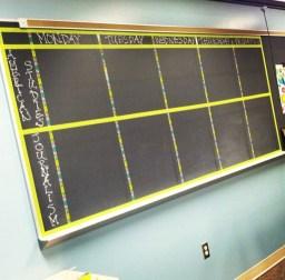 My week-at-a-glance chalkboard