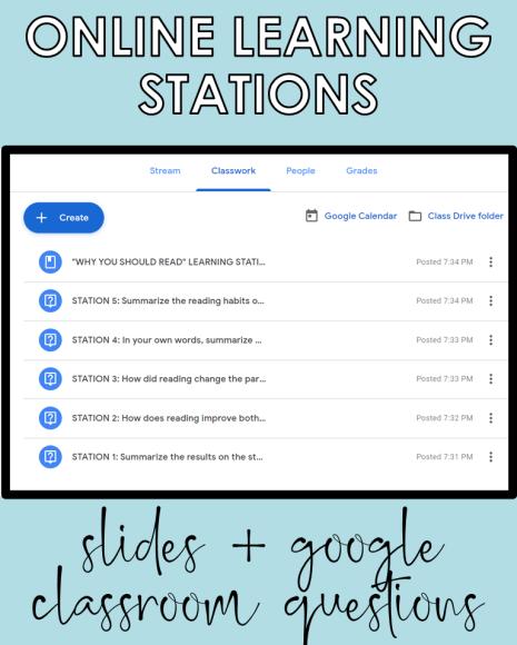Slides + Google Classroom questions
