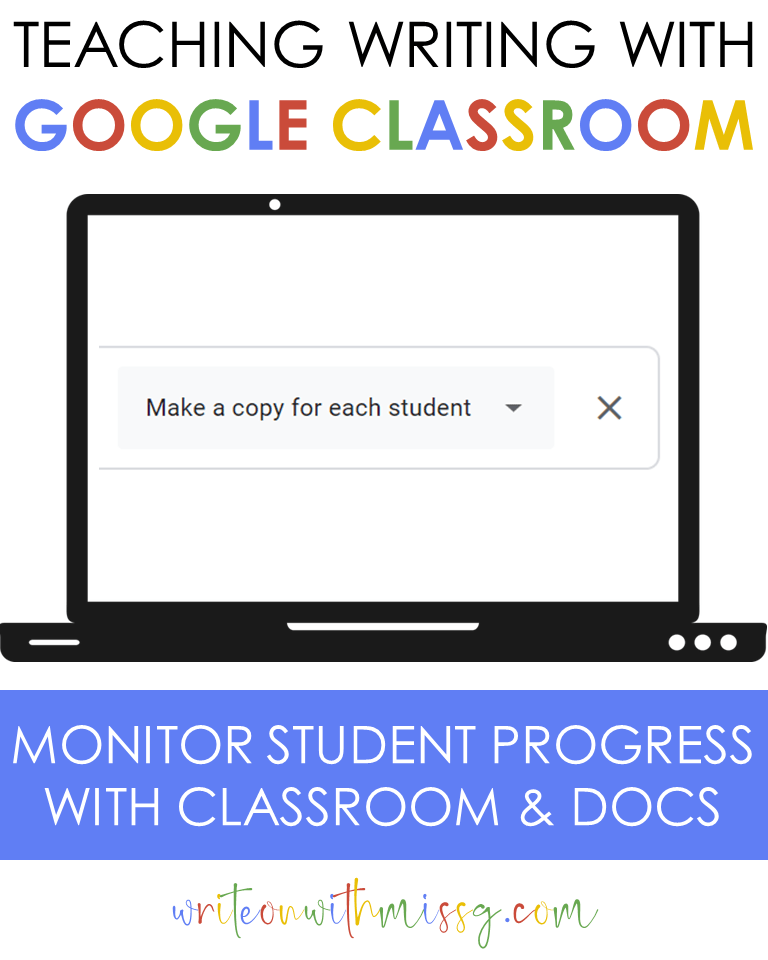 """Google Classroom: """"Make a copy"""" for each student"""