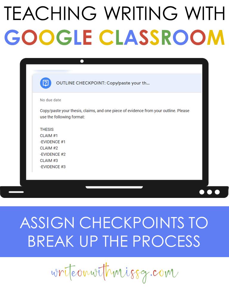 Outline Checkpoint via Google Classroom Question
