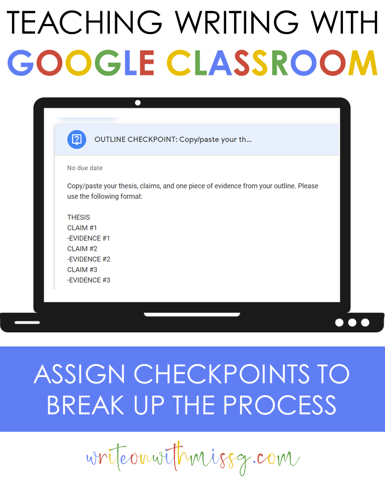Outline Checkpoint via Google Classroom Question