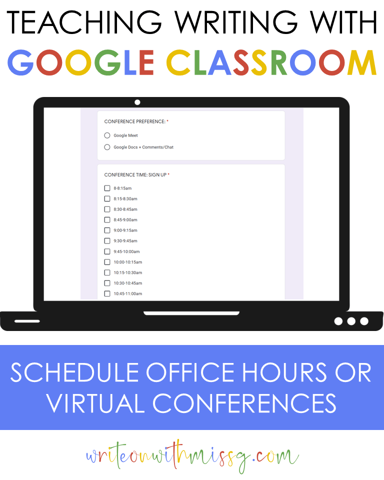 Google form for office hours
