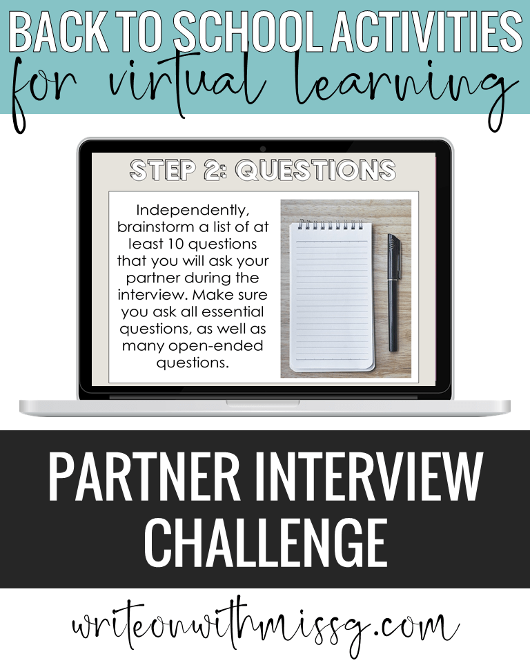 Back to school activity: Interview Challenge