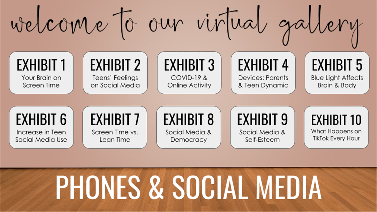 Virtual Gallery Walk: Phones & Social Media