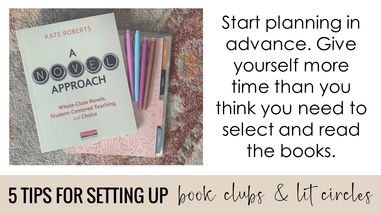 Start planning in advance. Give yourself more time than you think you need to select and read the books.