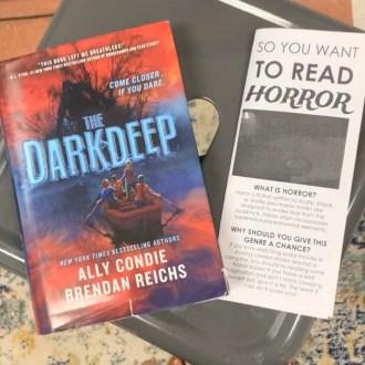 The Darkdeep book + Horror book brochure