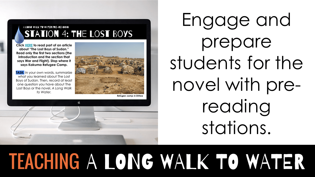 A Long Walk to Water pre-reading learning stations