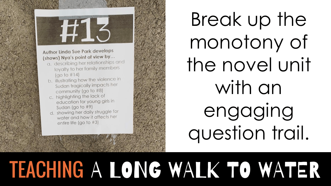 A Long Walk to Water question trail