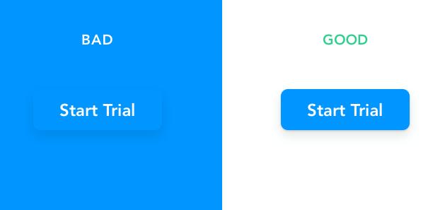 Perbandingan warna tombol CTA