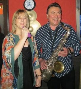 Me and Teresa, sax and voice