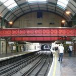 District Line tube at Paddington. Everything started and ended here.
