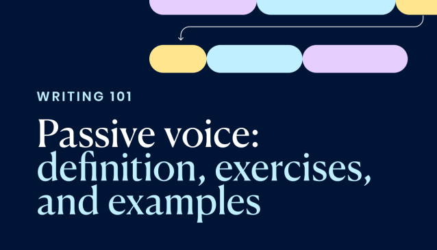 Passive voice: definition, exercises, and examples - Writer