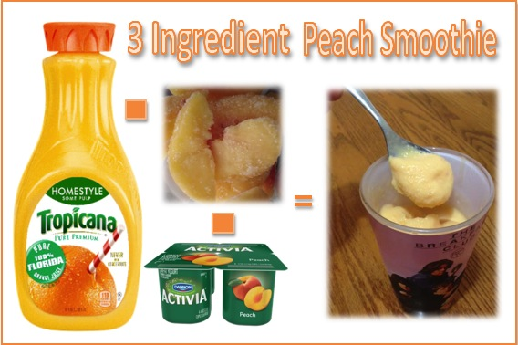 Peach smoothie for Moms