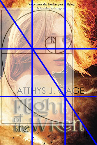 Book Cover Mock-up Curly with Guides
