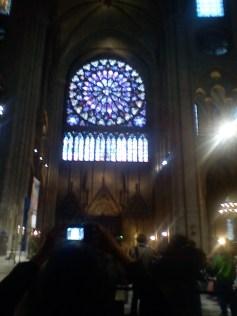 Stained glass window inside