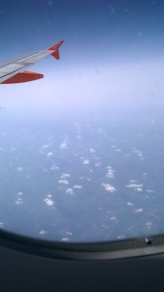 Clouds below the plane