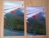 '4x6 inch' Aldi photo on the left, correct size Photobox photo on the right. Colours are pretty similar.