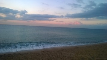 View of the Mediterranean Sea before Sunrise