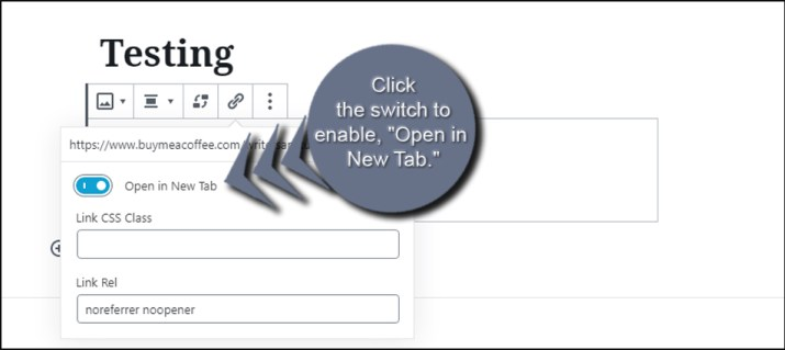 Enable Open New Tab