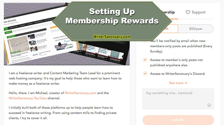 WriterSanctuary Membership Rewards