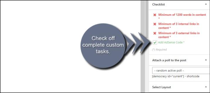 Check Custom Tasks