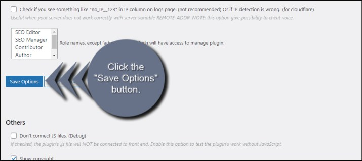 Save Poll Options