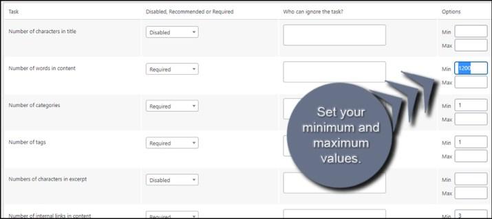 Set Checklist Values