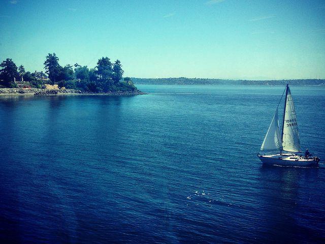 Across the Puget Sound : On a ferry to Bainbridge Island