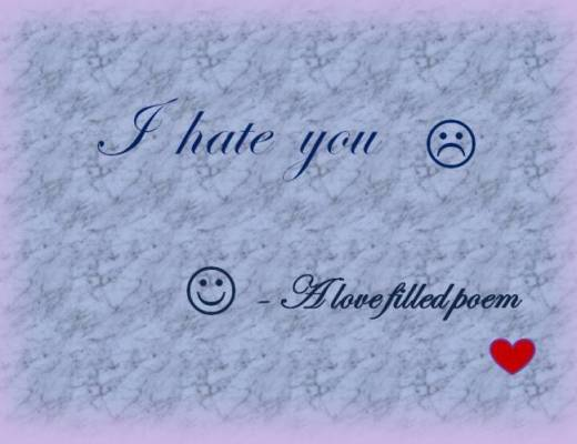 hate love filled poem