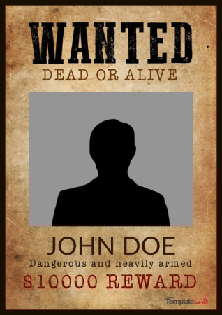 Wanted Poster for John Doe