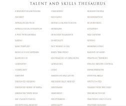 talents-and-skills-thesaurus