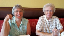 Susan Schmidlin and Aunt Margret at Writers in the Grove Lunch.
