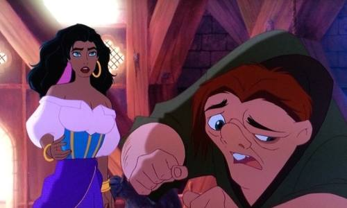 Esmeralda and Quasimodo