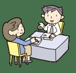 弁護士に相談する被害女性